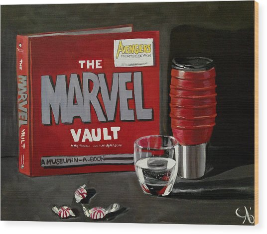 Marvel Comic's Still Life Acrylic Painting Art Wood Print