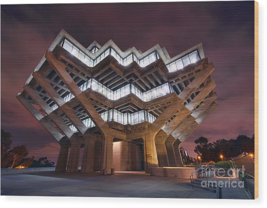 Geisel Library Wood Print