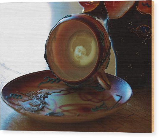 Geisha Lithophane Wood Print