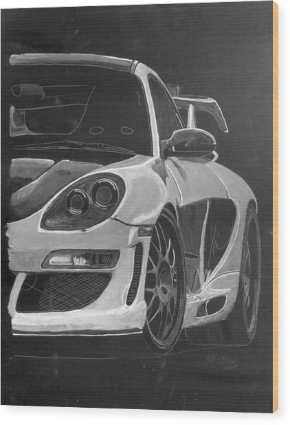 Gemballa Porsche Left Wood Print