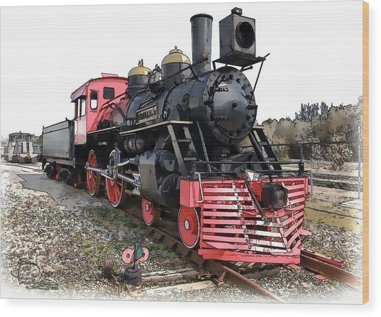 General II - Steam Locomotive Wood Print