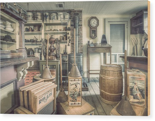 General Store - 19th Century Seaport Village Wood Print