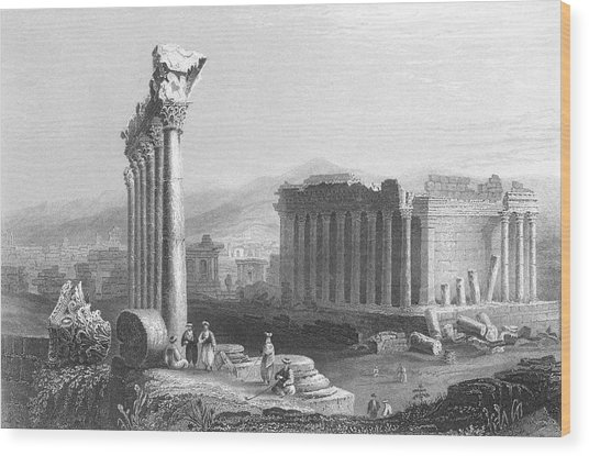 General View Of The Ruins          Date Wood Print