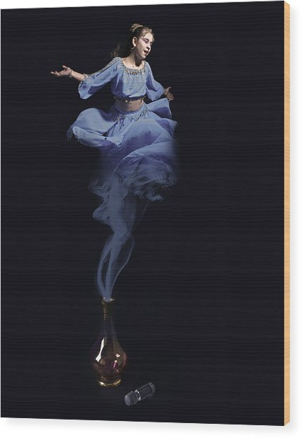 Genie Wood Print