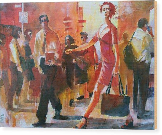 Gente Per Strada Wood Print by Alessandro Andreuccetti