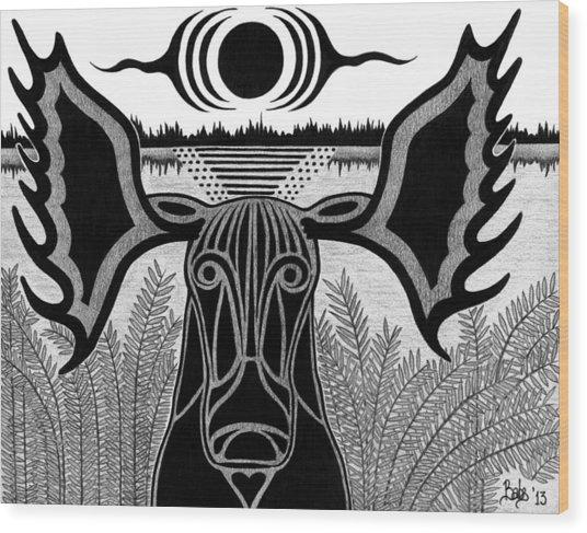 Gentle Giant Wood Print