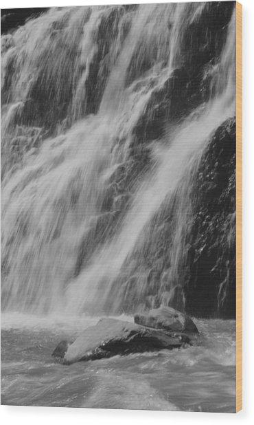 Gentle Splash Wood Print by Amanda Powell