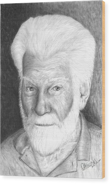 Gentleman With White Beard Wood Print