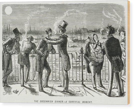Gentlemen (under The Influence Wood Print
