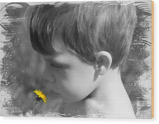 Gentleness Of A Child Wood Print