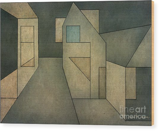 Geometric Abstraction II Wood Print