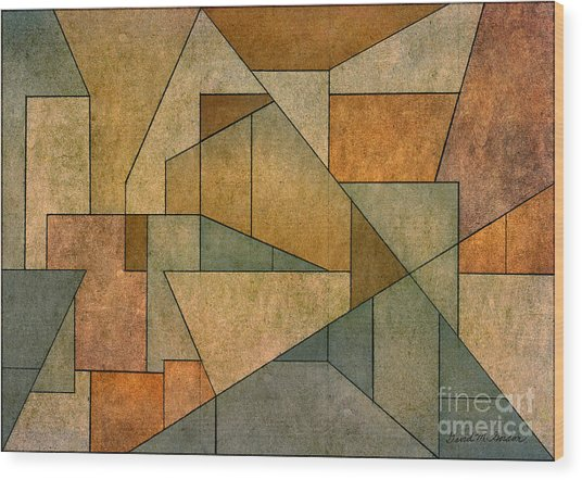 Geometric Abstraction Iv Wood Print
