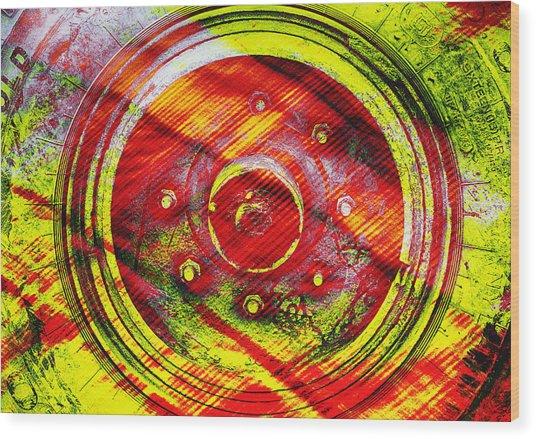 Geometric Colors  Wood Print
