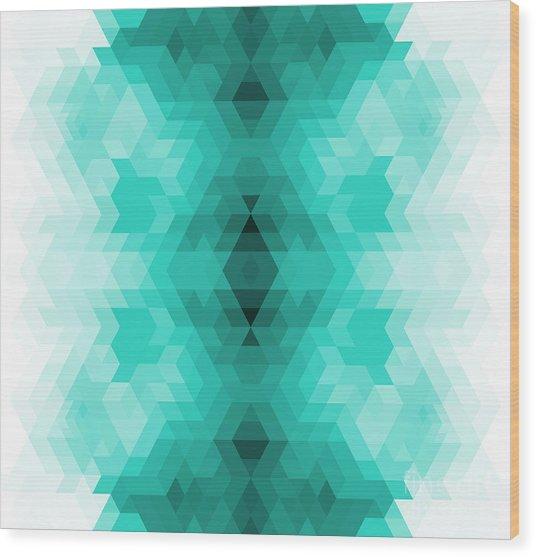 Geometric Hipster Retro Background Wood Print