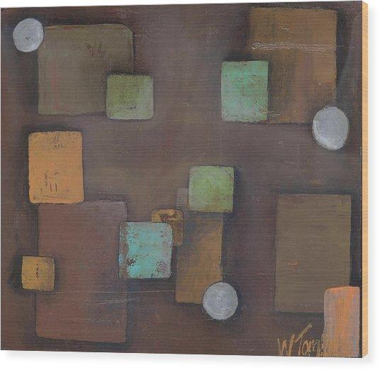 'geometric' Wood Print