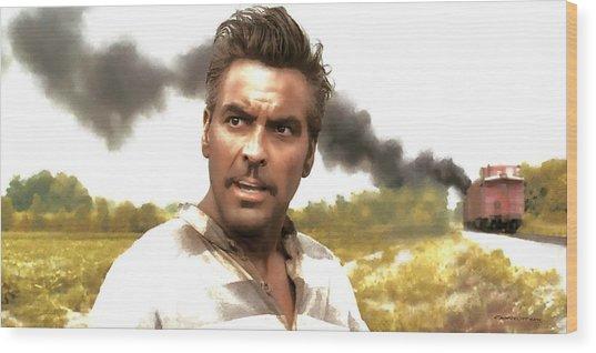 George Clooney In The Film O Brother Where Art Thou Wood Print