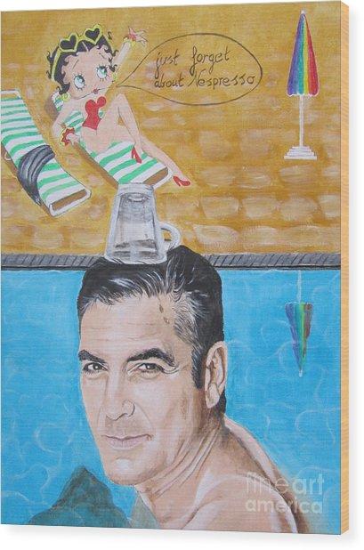 George Clooney Wood Print