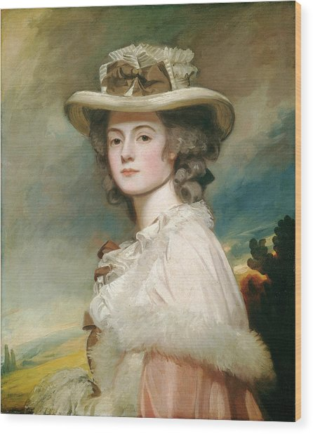 George Romney, Mrs Wood Print by Quint Lox