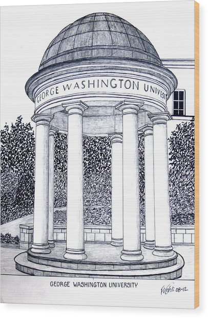 George Washington University Wood Print