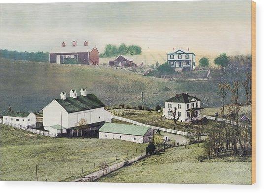 Georges Farm Wood Print
