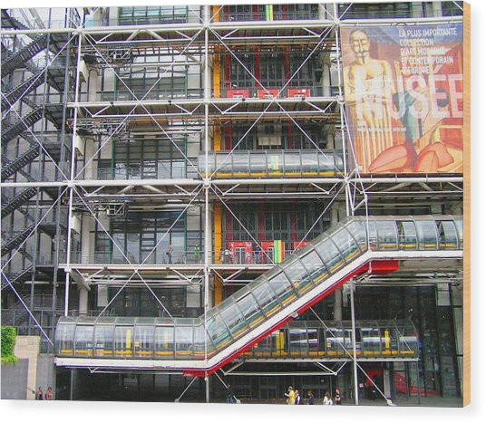 Georges Pompidou Centre Wood Print