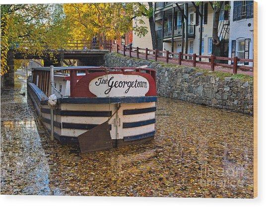 Georgetown Barge Wood Print