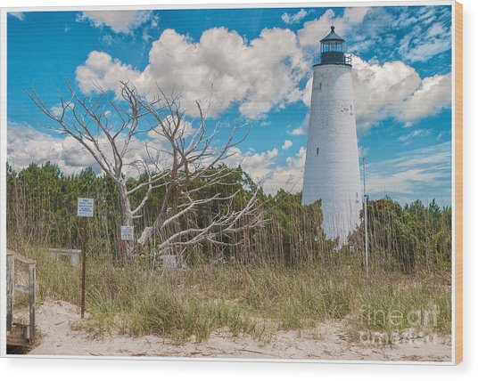 Georgetown Sc Lighthouse Wood Print