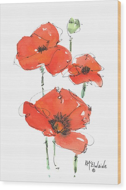 Georgetown Texas The Red Poppy Capital Wood Print