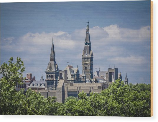 Georgetown University Wood Print