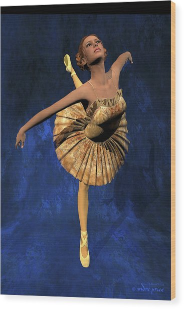 Georgia - Ballerina Portrait Wood Print by Alfred Price