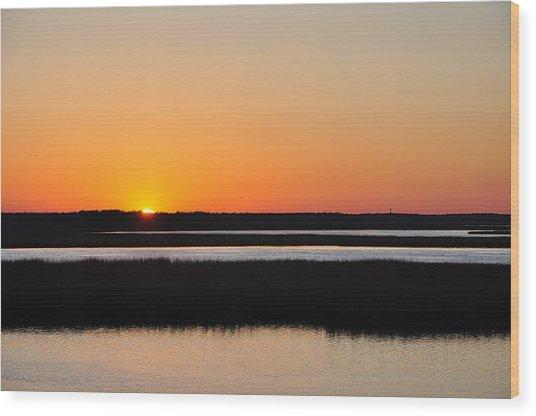 Georgia Sunset Wood Print
