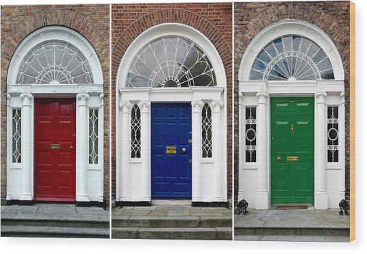 Georgian Doors - Dublin - Ireland Wood Print