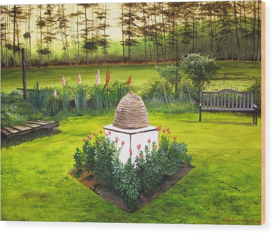 Georgian Herb Garden Wood Print