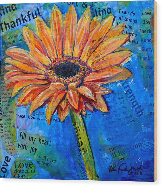 Gerbera Daisy Love Wood Print