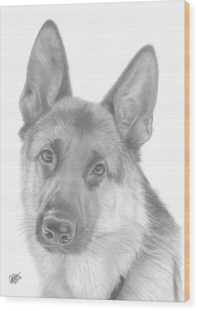 German Shepherd Wood Print