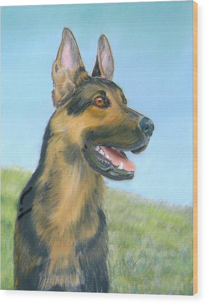 German Shepherd Dog Wood Print