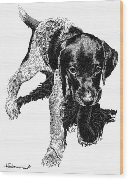 German Shorthair Wood Print