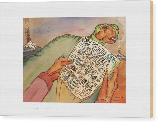 Get Rich Classifieds Humor Wood Print