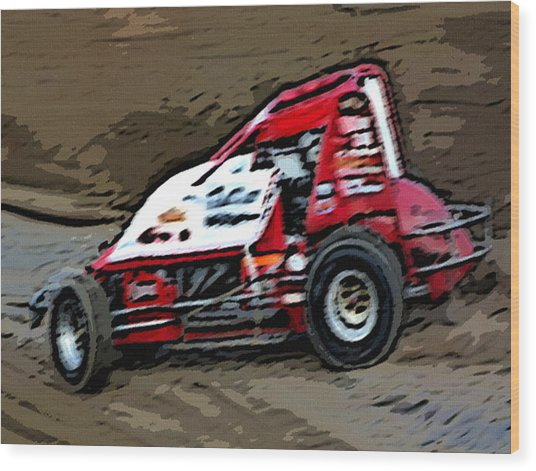 Gettin' With It In The Dirt Wood Print