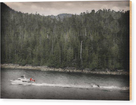 Getting A Tow In Canada Wood Print by Davina Washington
