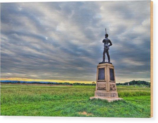 Gettysburg Battlefield Soldier Never Rests Wood Print