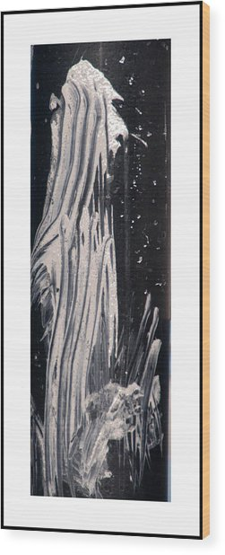 Ghost Abstract Wood Print by Geraldine Alexander