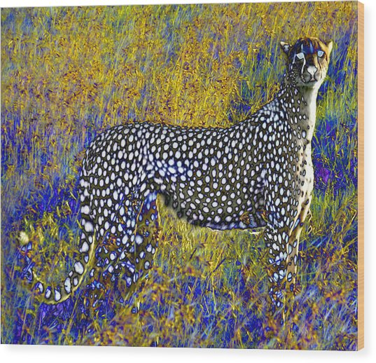 Ghost Cheetah Wood Print