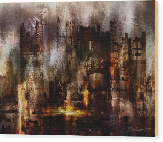 Ghost City II Wood Print