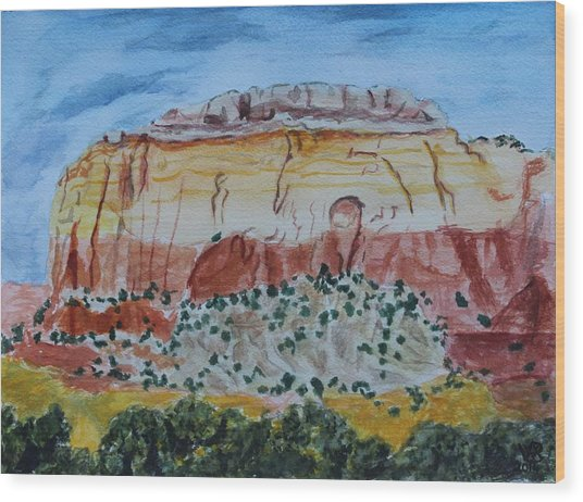 Ghost Ranch Wood Print