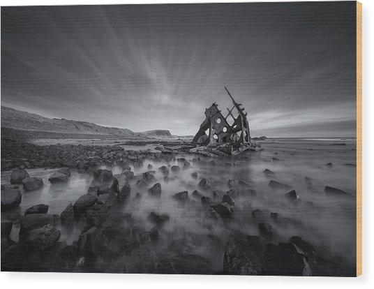 Ghost Ship Wood Print