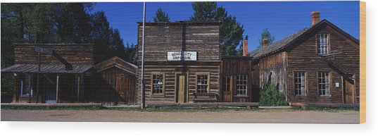 Ghost Town Nevada City Mt Wood Print