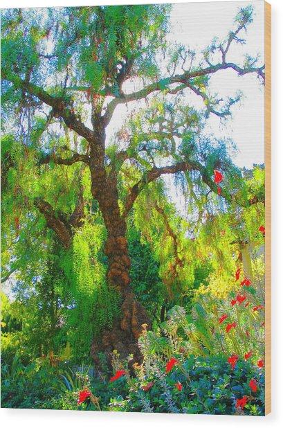 Ghost Tree Wood Print