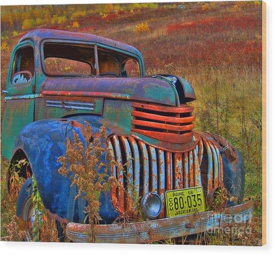Ghost Truck Wood Print