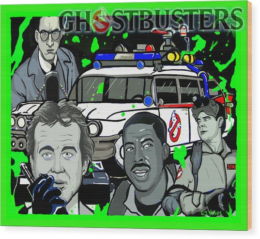 Ghostbusters Wood Print by Gary Niles